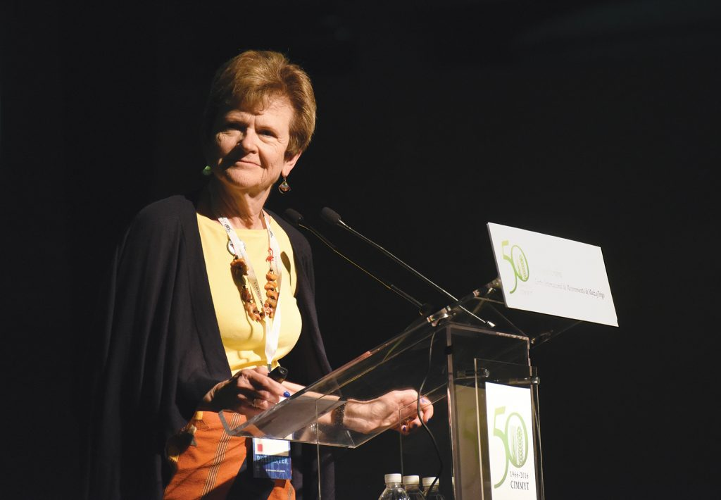 Leading nutritionist Julie Miller Jones promotes the benefits of whole grains. (Photo: CIMMYT)