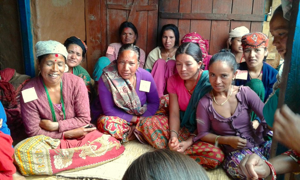 Women in Nepal participate in a focus group discussion as part of GENNOVATE's field research (Photo: Anuprita Shukla)