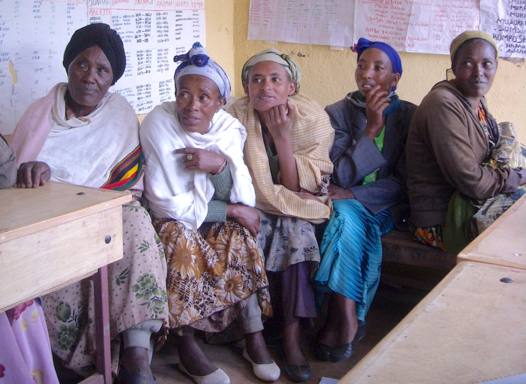 Women in Ethiopia participate in a focus group discussion as part of GENNOVATE's field research (Photo: Mahelet Hailemariam)