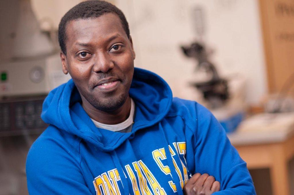 Rwandan crop researcher Theodore Assimwe.