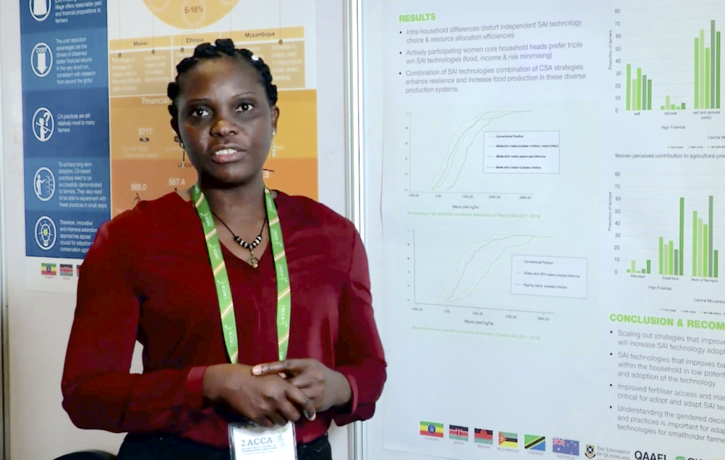 Maria da Luz Quinhentos, from the Mozambique Institute of Agricultural Research (IIAM).