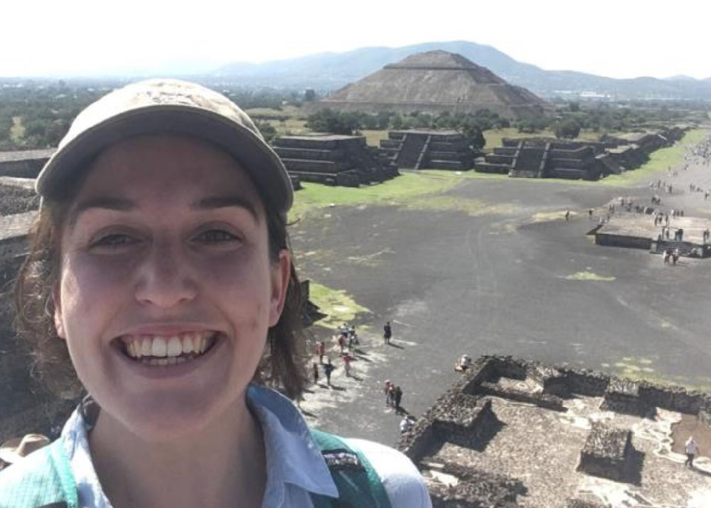 Peressini had a chance to visit the pyramids of Teotihuacán and other Mexican landmarks.