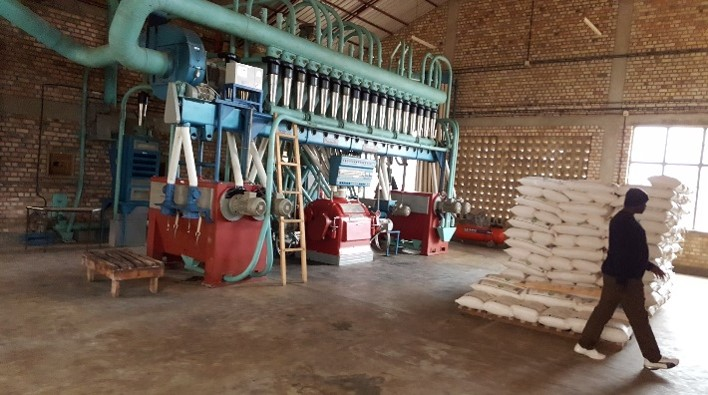 Millers, like this one in Rwanda, play a key role in wheat value chains.