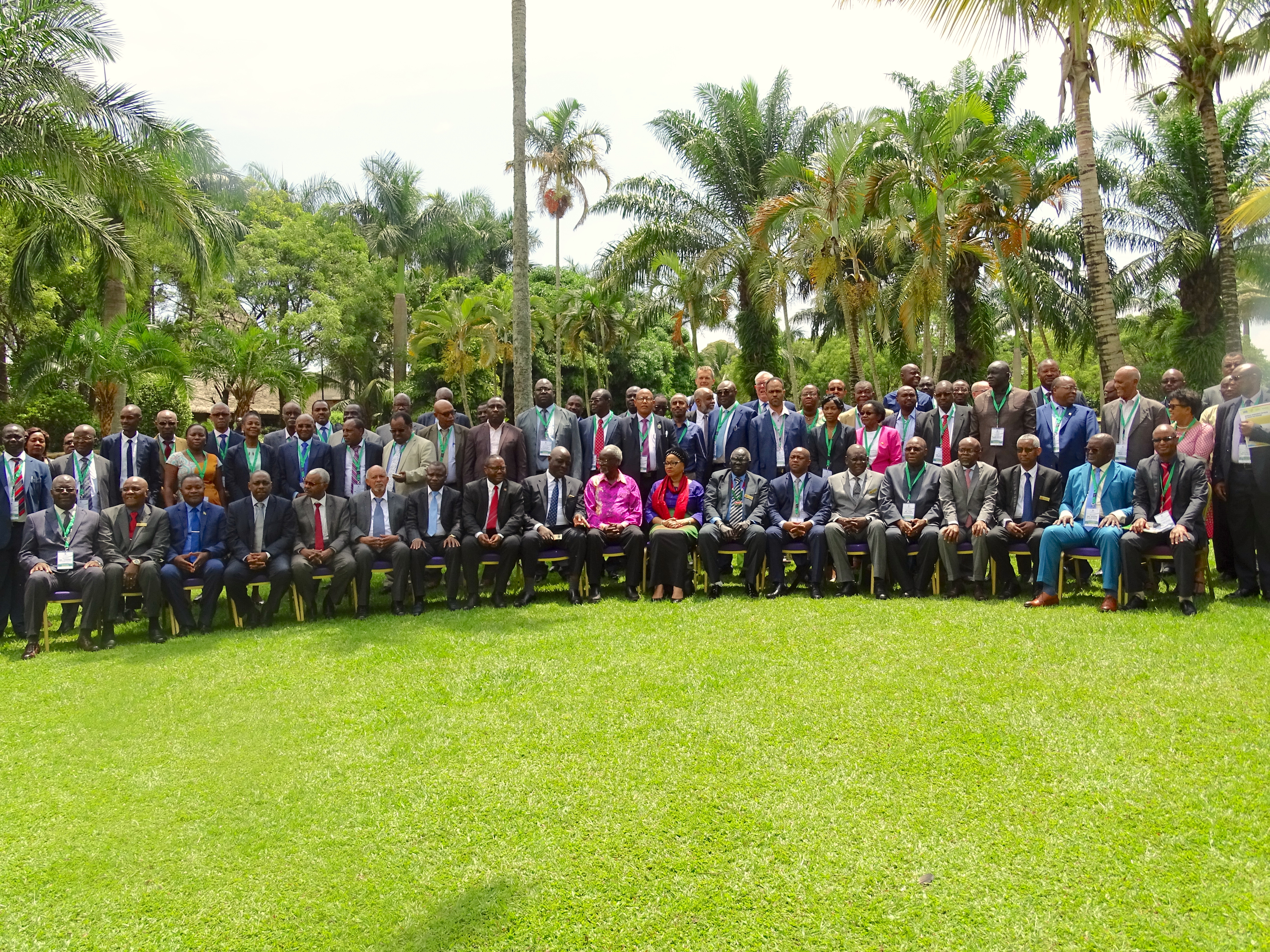 Delegates of the meeting organized by CIMMYT and ASARECA pose for a group photo. (Photo: Jerome Bossuet)