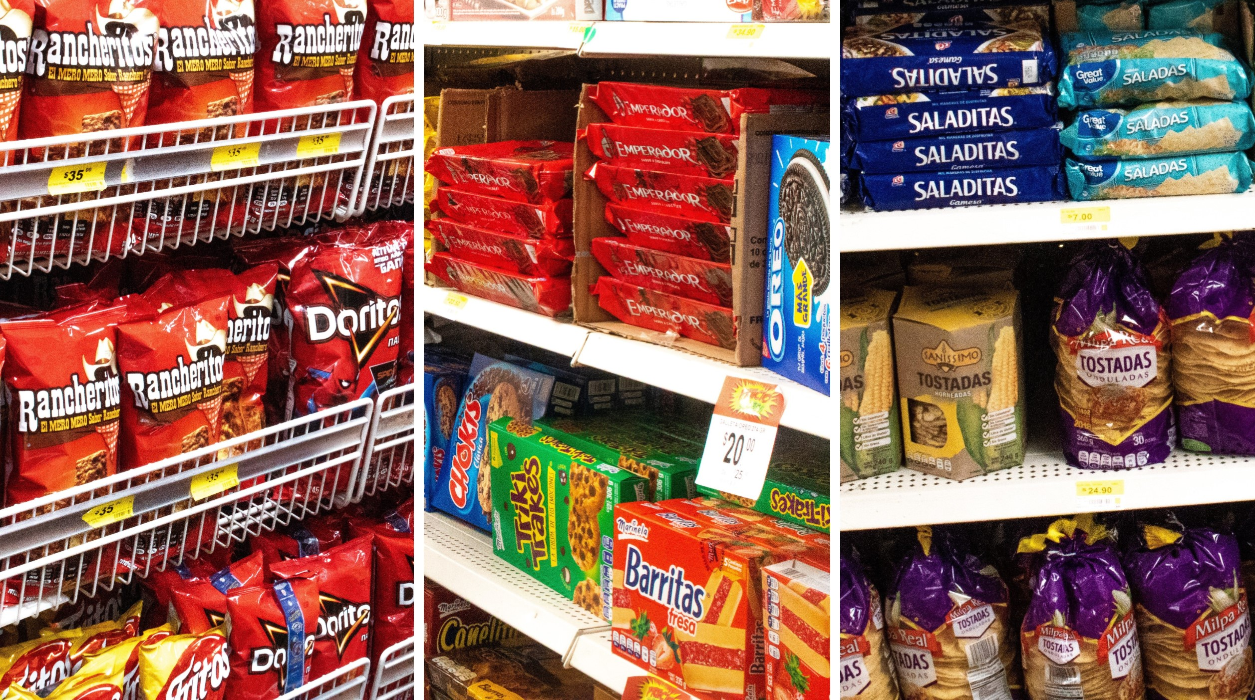 In a small food shop in San Vicente, a low-income area, snacks high in salt and sugar line the shelves. (Photo: Emma Orchardson/CIMMYT)