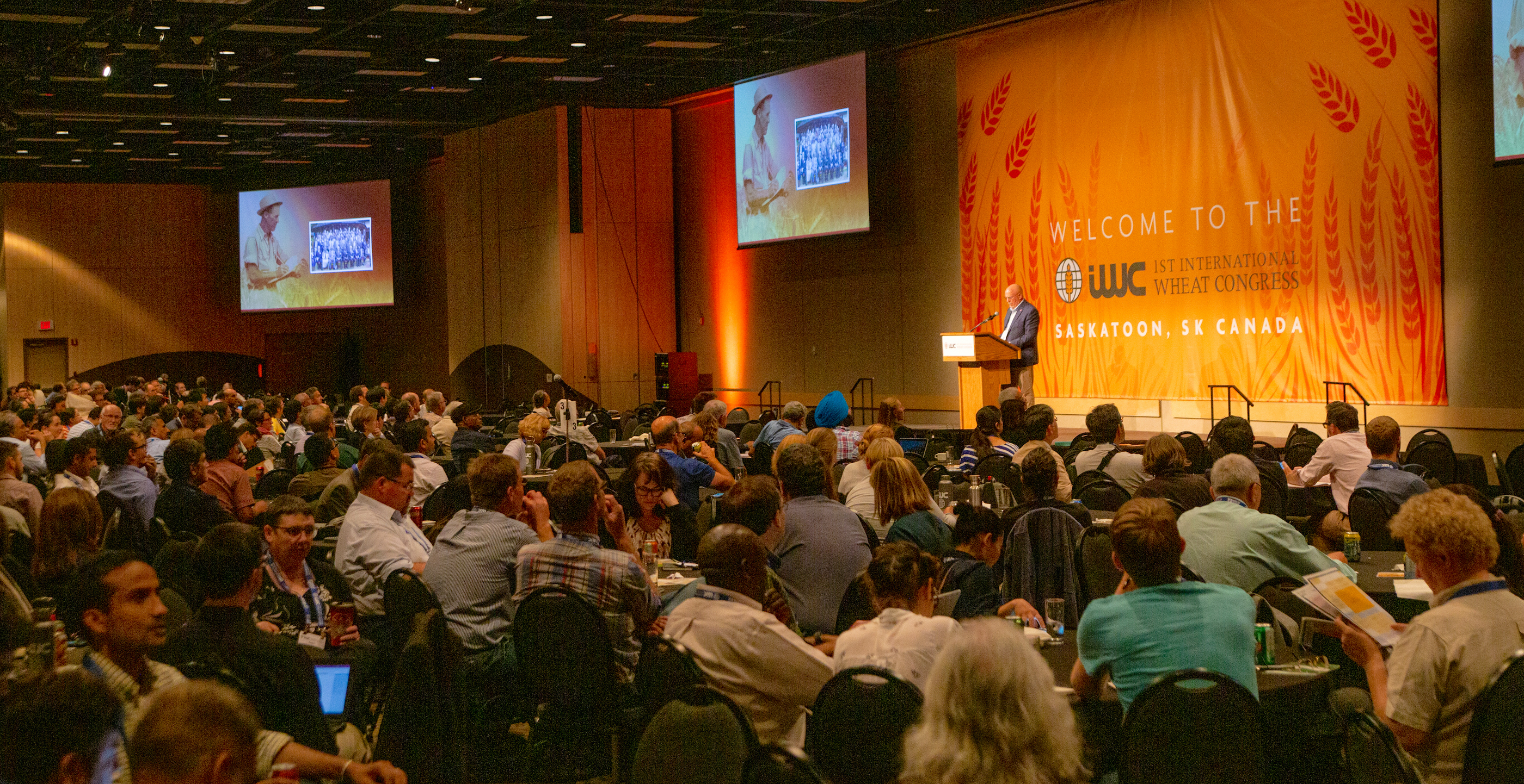 More than 800 global experts gathered at the first International Wheat Congress in Saskatoon, Canada, to strategize on ways to meet projected nutritional needs of 60% more people by 2050. (Photo: Matthew Hayes/Cornell University)