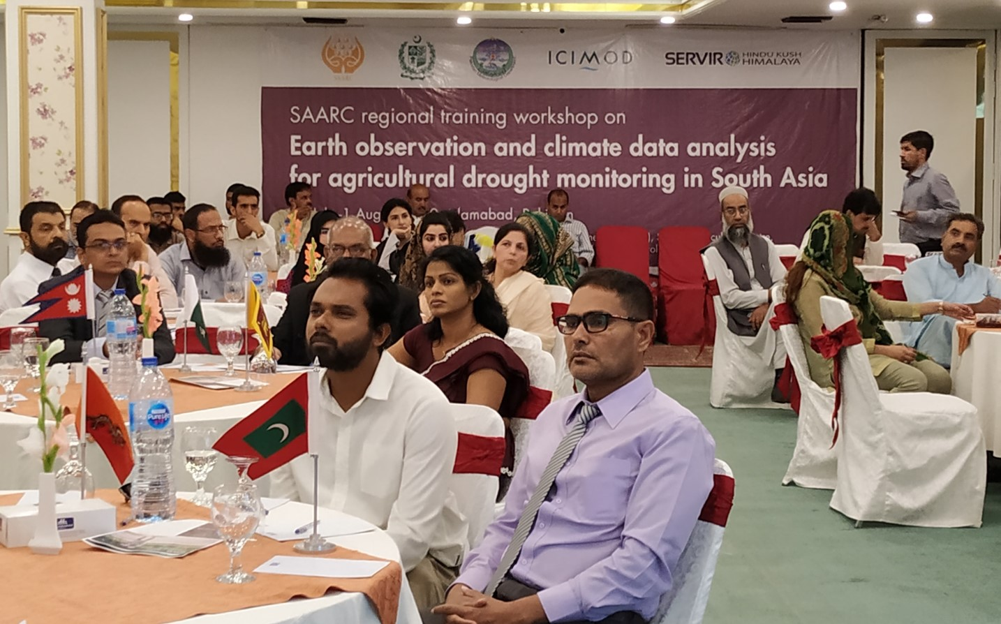 Participants at the regional workshop on earth observation and climate data analysis for agriculture drought monitoring in South Asia. (Photo: ICIMOD)
