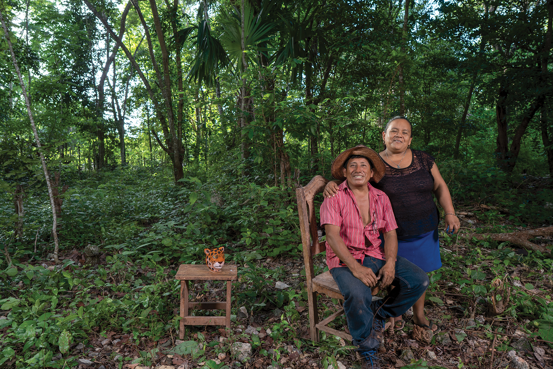 "Miguel Ku Balam (left), from Mexico's Quintana Roo state, cultivates the traditional Mesoamerican milpa system. ""My family name Ku Balam means 'Jaguar God'. I come from the Mayan culture,"" he explains. ""We the Mayans cultivate the milpa for subsistence. We don't do it as a business, but rather as part of our culture — something we inherited from our parents."" (Photo: Peter Lowe/CIMMYT)"