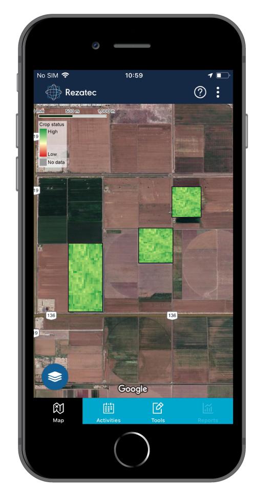 COMPASS smartphone app interface. (Photo: Saravana Gurusamy/Rezatec)