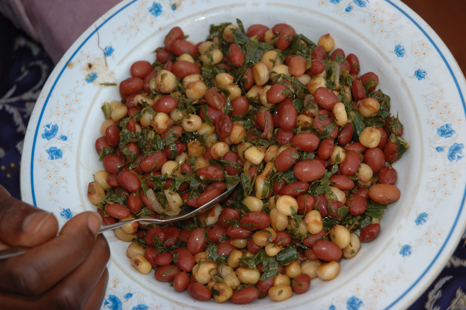 Githeri, a staple food made with maize and beans, Kenya. (Photo: CIMMYT)