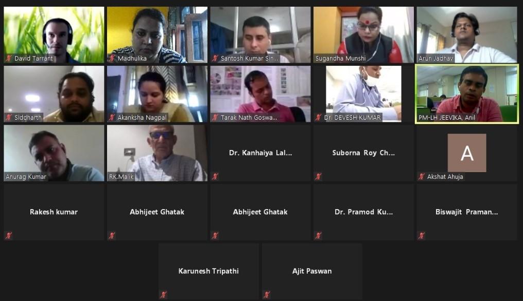Platform members interact during virtual training.