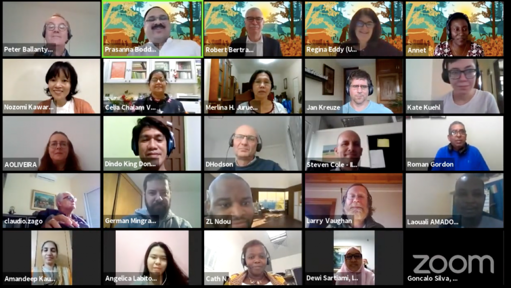 Participantes del webinario sobre manejo integrado de plagas y enfermedades. (Foto: CIMMYT)