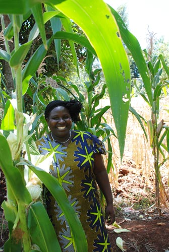Mercy Wawira, farmer who participated in the IMAS on-farm trial in Kenya's Embu County