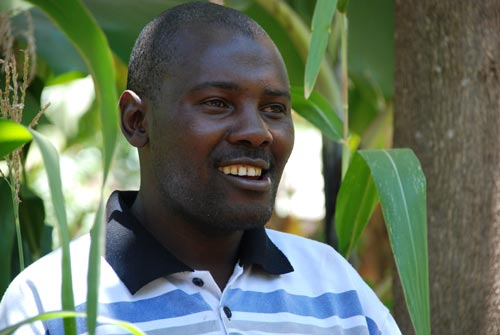 Farmer John Bosco Mugambi also participated in the IMAS on-farm trial in the Embu County.