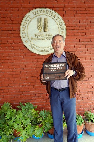 Former CIMMYT scientist Peter Hobbs. Andrew McDonald/CIMMYT