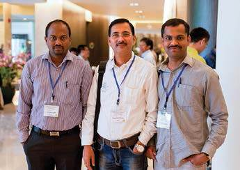 Participants and poster presenters from India, S.V. Manjunatha, M.G. Mallikarjuna and S. Hooda Karambir.