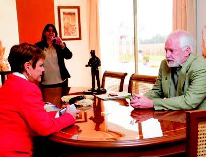 Gloria Abraham Peralta y Thomas Lumpkin. Foto: Xochiquetzal Fonseca