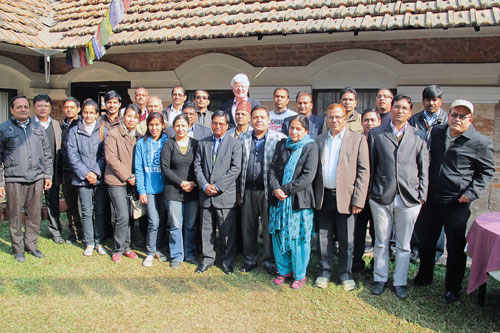 The participants in Nepal. Photo: CIMMY