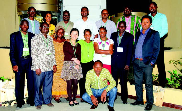 Foto de grupo de los participantes en el taller. Foto: Addis Tesfa Entertainment.