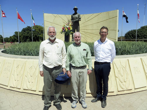 Left to right: Tom Lumpkin, John Snape and Martin Kropff.