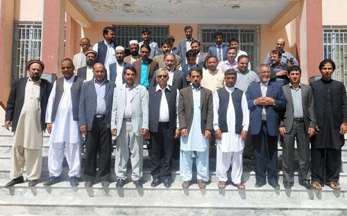 Fourth Annual Maize Workshop participants, ARIA, Badambagh, Kabul. Photo: Masud Sultan, CIMMYT