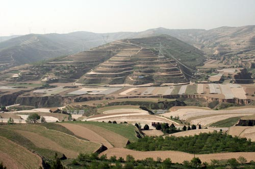 Common farming practices on the Loess Plateau near Dingxi to be visited during the workshop.