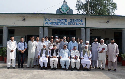 Training participants at the Agriculture Research Institute Tarnab, Peshawar. Photo: Bashir Ahmed/Programme of Agriculture Research System in KP Province