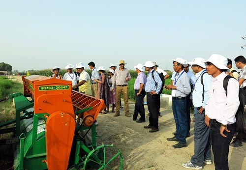 Participants received hands-on training on CA technologies and visited several participatory and strategic trials. Photo: Kiranjot Kaur/CIMMYT.