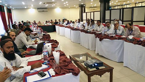 Training participants. Photo: CIMMYT-Pakistan.
