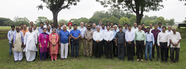 HarvestPlus Wheat Biofortification meeting held at ICRISAT, in Patancheru. Photo credit : HarvestPlus.