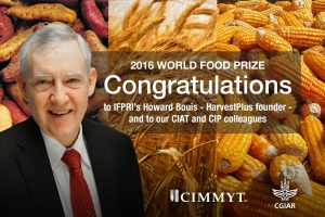 HarvestPlus director Howarth Bouis is one of four winners of the 2016 World Food Prize. Graphic design: Bose Zhou