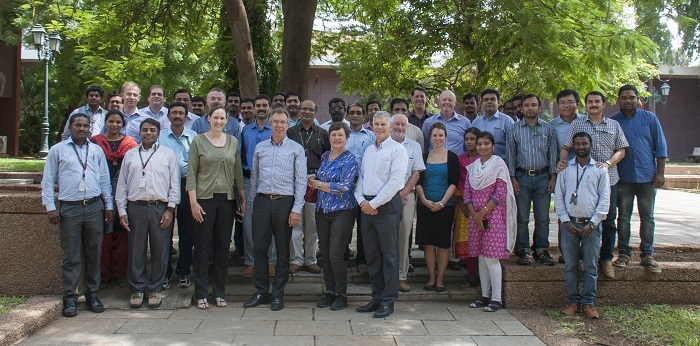 CIMMYT Delegation in Hyderabad, India, 26 August 2016. Photo: CIMMYT