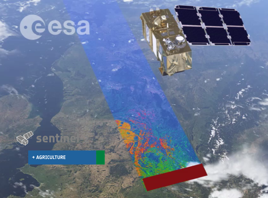The Sentinel 2 satellites have a swath width of 290 km. Sentinel-2A is already operational, while Sentinel-2B will be launched in the spring of 2018. Together, they will be able to cover the Earth every 5 days.