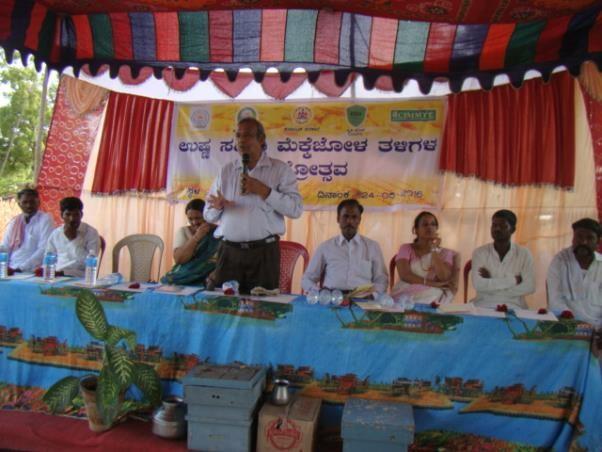 Inauguration of the Field day by B.V. Patil, Director of Education at UAS, Raichur. Photo: UAS, Raichur
