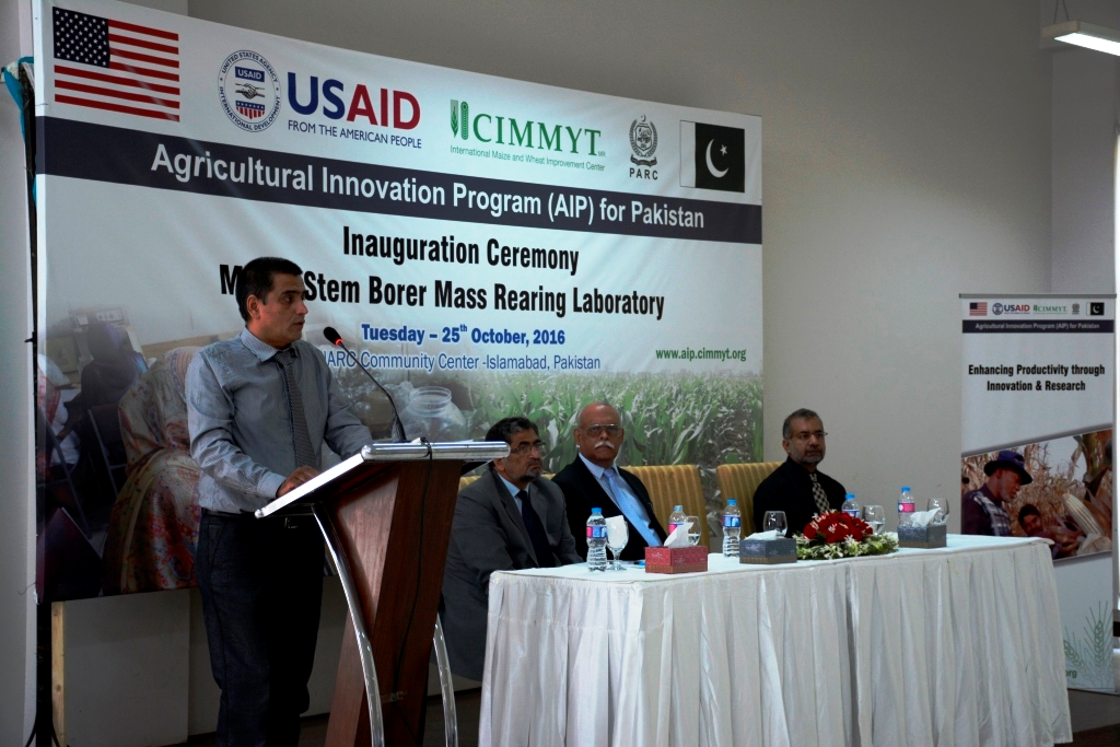 Opening address by Md. Imtiaz, CIMMYT's country representative in Pakistan. Photo: CIMMYT