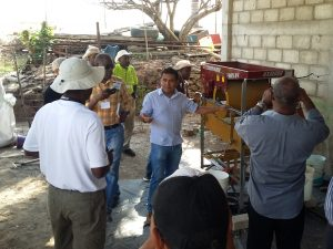 Haitian trainees in Mexico.