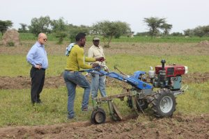 Beyene Abebe from Ethiopia, is one youth gaining economic opportunity as a mechanization service provider. Photo: CIMMYT/