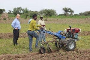 Beyene Abebe from Ethiopia, is one youth gaining economic opportunity as a mechanization service provider. Photo: CIMMYT/