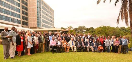 Delegates of the SIMLESA Sustainable Intensification Conference in Arusha, Tanzania. Photo: J. Siamachira/CIMMYT