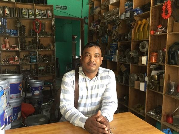 Dahit Traders founder Chullu Ram Chaudhary at his workshop in Bardiya district, Nepal. Photo: CIMMYT/CSISA/A.Khadka
