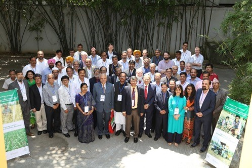 Delegates and participants of the regional policy dialogue on scaling conservation agriculture for sustainable intensification in South Asia in Dhaka, Bangladesh. Photo: Das, S./CIMMYT Bangladesh.