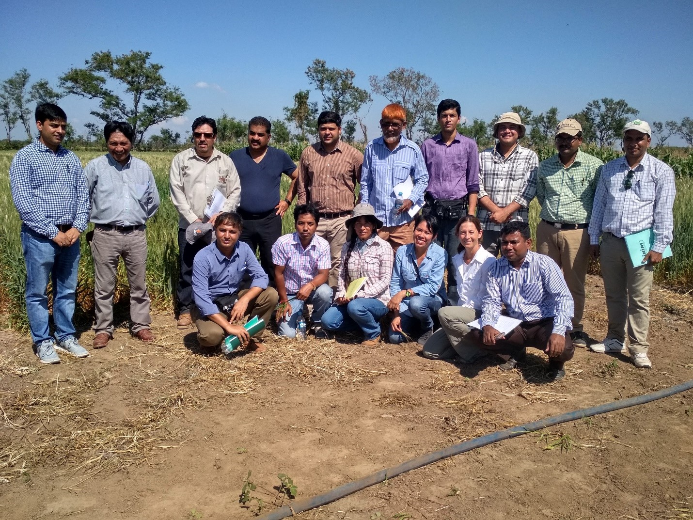 Trainees at the CAICO farm in Okinawa, Bolivia. Photo: CIMMYT archives