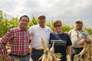 Felix San Vicente, second from left, at the launch event. Photo: HarvestPlus.