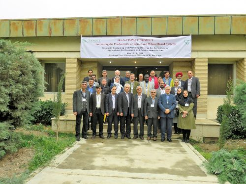 A group photo taken during the planning meeting in Iran. Photo: CIMMYT archives